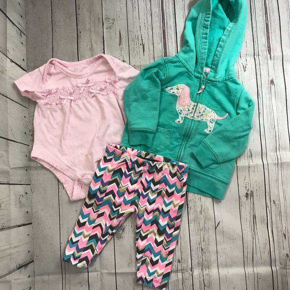 OshKosh B'gosh Other - Cute 6 Month Baby Girl Pink Outfit Hoodie Dog